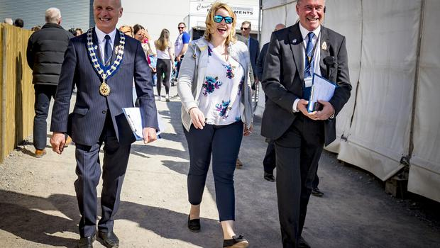Karen Bradley on Day 2 of the Balmoral show on May 17th 2018 (Photo by Kevin Scott / Belfast Telegraph)