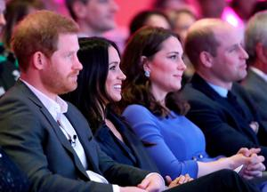 The Duke and Duchess of Sussex with the Duke and Duchess of Cambridge