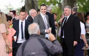 SUNDAY LIFE- News Sunderland player John O'Shea at the Wedding of Manchester United footballer Jonny Evans and Man United TV reporter Helen McConnell at Clough Presbyterian Church.  Picture Colm O'Reilly Sunday Life 1-05-2013