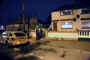 Police at the scene of a death on the Ballycastle road in Coleraine. Pic Kevin McAuley McAuley Multimedia.