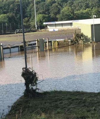 Institute FC's Riverside stadium suffered bad flooding on Tuesday night.