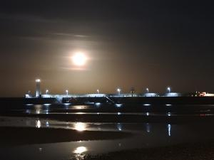 My name is Neil Hunter and I live in the Bangor area. The picture was taken the night after the 'super moon' at Donaghadee looking over the harbour