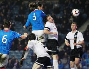 Rangers' Bilel Mohsni scores a goal during the Scottish League One match at Ibrox, Glasgow.