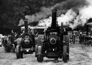 Steam traction engine enthusiats take part in rally at Shane's Castle.  14/7/1973