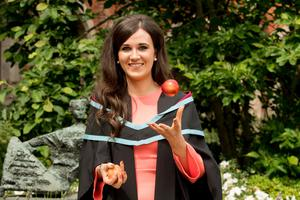Claire McAlinney is the first of two to graduate with a Masters in Food Science & Food Security and will begin a role in food safety at Musgrave.