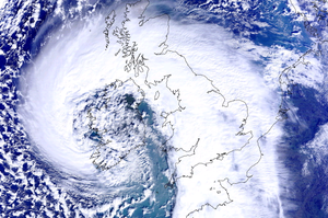 The scale of the storm threatening to hit the UK. NEODASS/University of Dundee/PA Wire