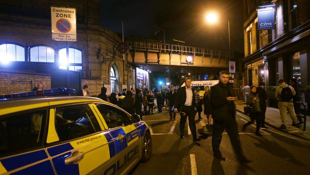 Police at the scene outside Parsons Green Tube station after the stabbings (Yui Mok/PA)