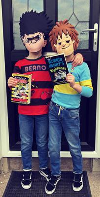 Ben (Dennis the Menace) and Charlie Cranston (Horrid Henry) age 6 from Portadown