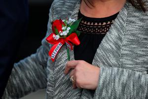 WARRINGTON, ENGLAND - APRIL 26:  Relatives of Hillsborough victims arrive at Birchwood Park to hear the conclusions of the Hillsborough inquest on April 26, 2016 in Warrington, England. The fresh inquests into the 1989 Hillsborough disaster, in which 96 football supporters were crushed to death, began on March 31 2014 after the initial verdicts were quashed. Relatives of Liverpool supporters who died in Britain's worst sporting disaster gathered in the purpose-built court to hear the jurys verdict in Warrington after a 25 year fight to overturn the accidental death verdicts handed down at the initial 1991 inquiry.  (Photo by Dave Thompson/Getty Images)