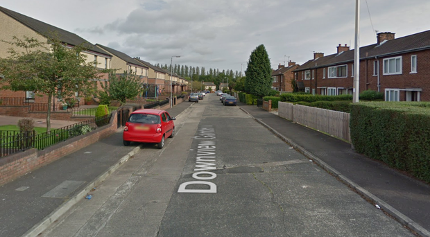The burglary happened at a house in Downview Gardens in Belfast. Credit: Google