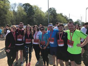 Team Tourism NI who were running the relay in aid of Guide Dogs