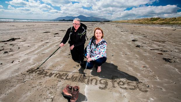 Peter Rafferty with Roisin Mulgrew, chair of Newry, Mourne and Down District Council