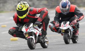 Mini Moto Racing at Portrush in Co-Antrim at the weekend as the North West 200 motorbike racing week gets underway. Picture Margaret McLaughlin ? by-line 11-5-13