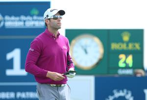 Press Eye - Belfast - Northern Ireland - 8th July 2017   Day three of the Dubai Duty Free Irish Open Hosted by the Rory Foundation at Portstewart Golf Club, Co.Derry / Co. Londonderry, Northern Ireland.  Bradley Dredge tees off on the 1st  Picture by Matt Mackey / presseye.com