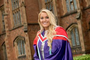 Graduating today from Queen's University Belfast with a PhD in Finance is American Student, Meeghan Rogers.