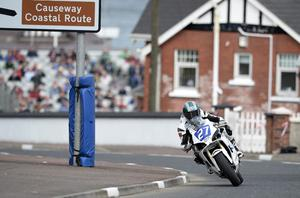 15/5/2014. PACEMAKER PRESS.  SUPERTWINS PRACTICE. Ivan Lintin during todays Vauxhall International North West 200 Supertwins practice session. Picture Charles McQuillan/Pacemaker.