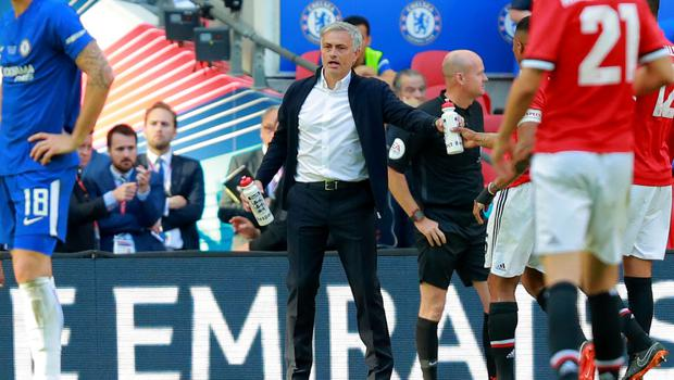 Manchester United's Jose Mourinho in action during the FA Cup final at Wembley on May 19th 2018 (Photo by Kevin Scott / Belfast Telegraph)
