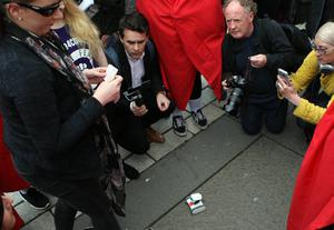 Abortion protest in Belfast. Mandatory Credit - Picture by Freddie Parkinson/Press Eye ©