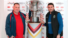 It's a knockout: Glebe boss Jason Wilmont with David Healy