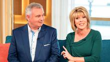 Dropped: Eamonn Holmes and his wife Ruth Langsford in the This Morning studio