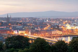 The historical Walled City of Derry