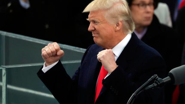WASHINGTON, DC - JANUARY 20:  U.S. President Donald Trump delivers his inaugural address on the West Front of the U.S. Capitol on January 20, 2017 in Washington, DC. In today's inauguration ceremony Donald J. Trump becomes the 45th president of the United States.  (Photo by Chip Somodevilla/Getty Images)