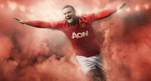 Wayne Rooney models the new Manchester United home kit NIKE