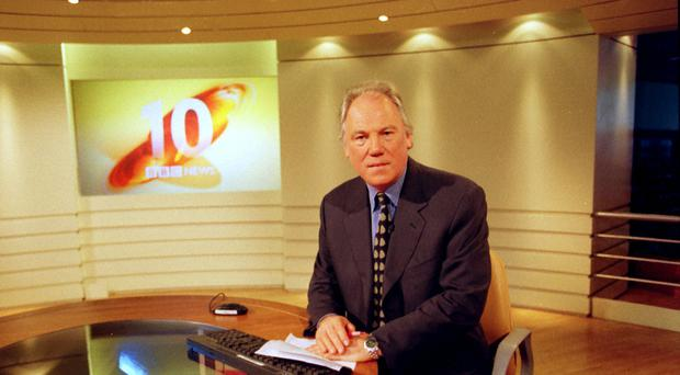 Peter Sissons reading the BBC's main evening news (BBC)