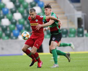 Conor McMenamin impressed for Cliftonville.