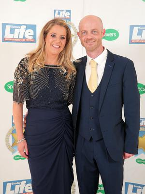 Press Eye - Belfast - Northern Ireland - 16th June 2017 -   Brian and Christine O'Kane pictured at the Sunday Life Spirit of Northern Ireland Awards with Specsavers at the Culloden Hotel. Photo by Kelvin Boyes / Press Eye.
