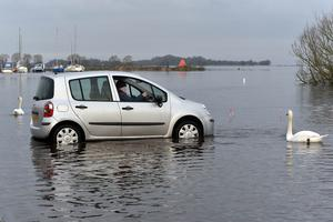 Lough Neagh's Kinnego Marina in Craigavon is submerged last week
