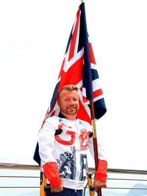 File photo dated 06-09-2016 of Lee Pearson during the ParalympicsGB Flagbearer announcement. PRESS ASSOCIATION Photo. Issue date: Wednesday September 7, 2016. The XV Paralympic Games open in Rio on Wednesday night with 10-time gold medallist Lee Pearson leading Great Britain into a full to capacity Maracana Stadium. See PA story PARALYMPICS Rio. Photo credit should read Adam Davy/PA Wire.