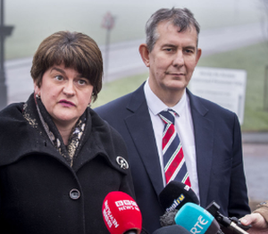 Edwin Poots with Arlene Foster