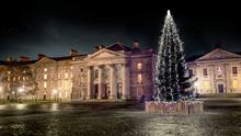 Trinity College at Christmas