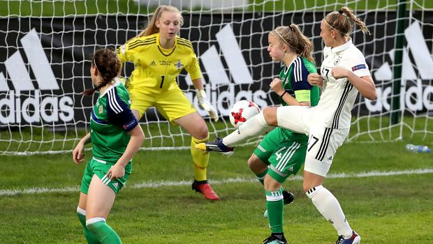 Northern Ireland goalkeeper Lauren Perry had a starring role during the UEFA Women's Under 19 Championship last summer.