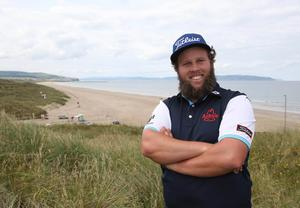 Press Eye - Belfast - Northern Ireland - 5th July 2017   Andrew Johnston tees off in the Dubai Duty Free Irish Open Hosted by the Rory Foundation Invitational Pro-Am at Portstewart Golf Club, Co.Derry / Co. Londonderry, Northern Ireland.  Picture by Matt Mackey / presseye.com