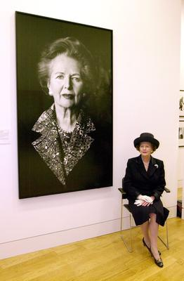 File photo dated 04/05/2000 of former Prime Minister Margaret Thatcher sitting beside her portrait at the National Portrait Gallery in London. Baroness Thatcher died this morning following a stroke, her spokesman Lord Bell said. PRESS ASSOCIATION Photo. Issue date: Monday April 8, 2013. See PA story DEATH Thatcher. Photo credit should read: Fiona Hanson/PA Wire