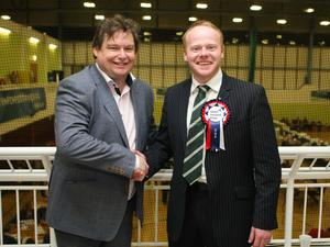 Count at Valley Leisure Centre in Newtownabbey for East Antrim and South Antrim constituencies. Mark Cosgrove with John Stewart UUP Photo by Freddie Parkinson / Press Eye ©