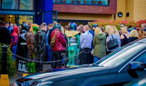 The funeral of Jayden Morrow takes place as Super Heroes gather at Willowfield Church in Belfast on August 9th 2017 (Photo by Kevin Scott / Belfast Telegraph)