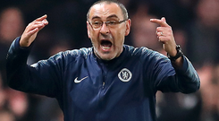 Out the door: Maurizio Sarri is bound for Juventus