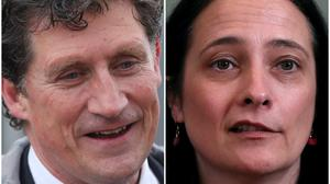 Incumbent Eamon Ryan, left, faces a challenge from his deputy Catherine Martin (Niall Carson/Brian Lawless/PA)
