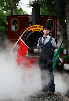 Alan Curran, driver of the Stradbally Woodland Express steam train, during a press preview of the Electric Picnic festival in Stradbally, County Laois. Brian Lawless/PA Wire