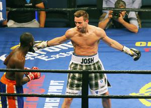 Press Eye - Belfast -  Northern Ireland - 18th July 2015 -  Josh Taylor v Archie Weah at the Don Haskins Centre, El Paso  Picture by Jorge Salgado / Press Eye