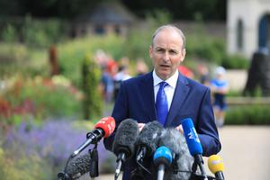 Irish Taoiseach Micheal Martin said it was important that the centenary events to mark the partition of Ireland were respectful and enlightening (Julien Behal/PA).