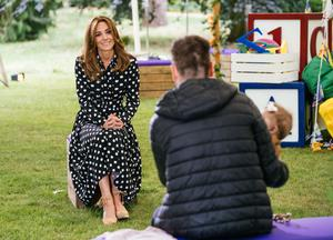 The duchess meeting the families (BBC/PA)