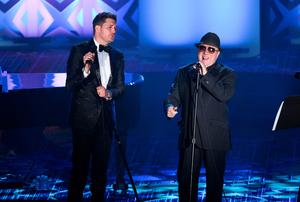 Michael Buble and Van Morrison perform at the 46th Annual Songwriters Hall Of Fame.