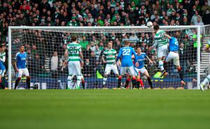GLASGOW, SCOTLAND - APRIL 17:  Erik Sviatchenko of Celtic scores during the Scottish Cup Semi Final between Rangers and Celtic at Hampden Park on April 17, 2016 in Glasgow, Scotland. (Photo by Ian MacNicol/Getty)