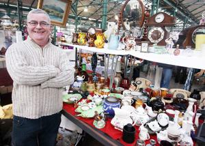 Northern Ireland- 5th April 2013 Mandatory Credit - Photo-Jonathan Porter/Presseye.  Paddy Lynn pictured at his second hand and antique stall in St George's market.