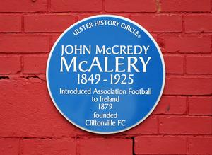 Blue Plaque for John McCredy McAlery