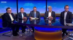 The all-male panel on the BBC Sunday Politics Show. Pic BBC